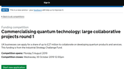 UK Gov Innovation Funding Service on Quantum Computing