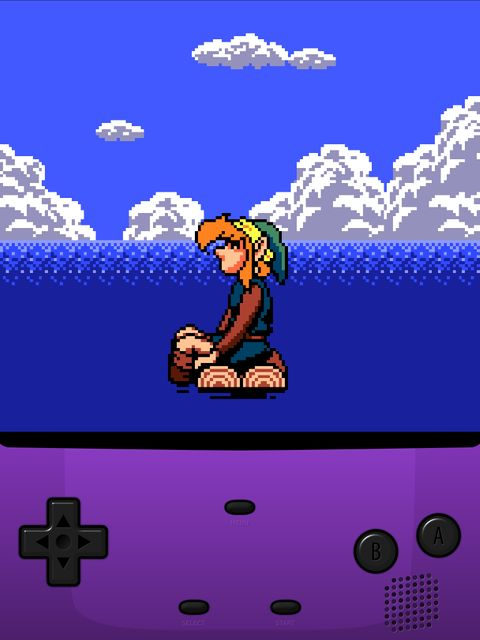 Link stranded in the ocean. featured image