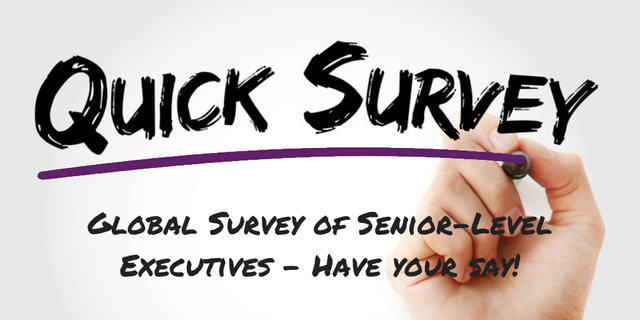 Global Survey of Senior-Level Executives - Have Your Say! featured image
