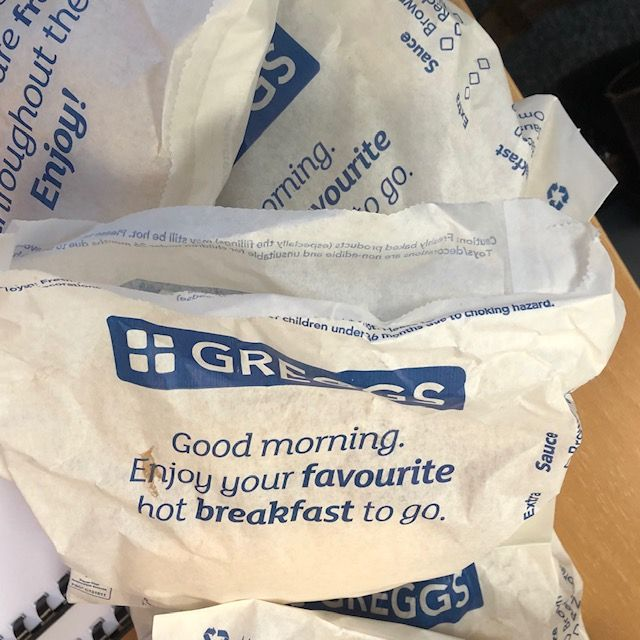 Greggs bacon rolls for Lodders' Commercial Property team featured image