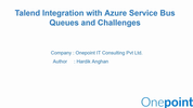 Extending Talend to overcome some of Azure Service Bus' limitations with a custom component.