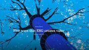 Five ways that ESG creates value