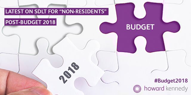What's the latest about the SDLT surcharge for non-residents post-budget 2018? featured image
