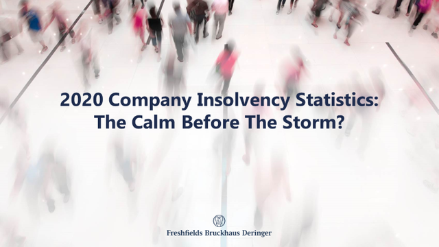 The UK's 2020 company insolvency statistics: the calm before the storm? featured image