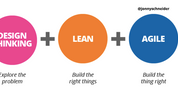 With Design Thinking, Lean and Agile its