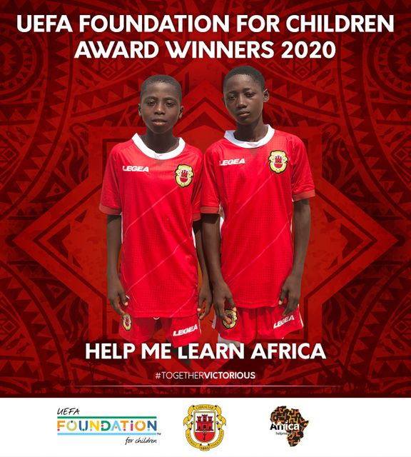 Help Me Learn Africa awarded UEFA Foundation for Children Award featured image