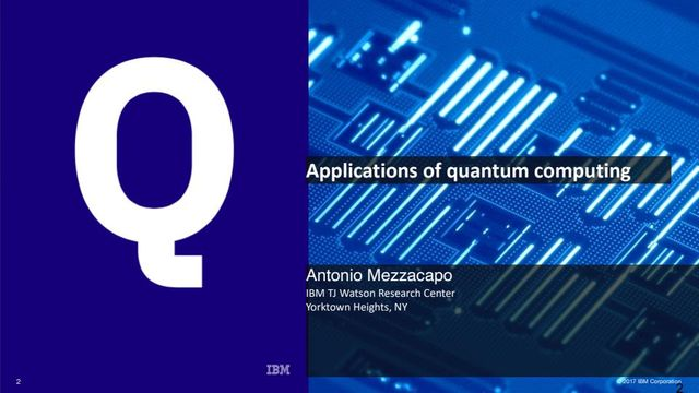 Applications of Quantum Computing - IBM presentation featured image