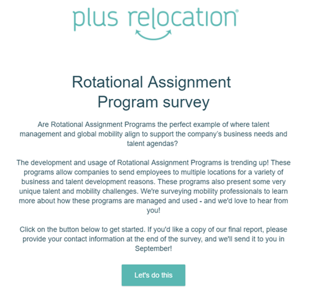 Rotational Assignment Survey is open! featured image
