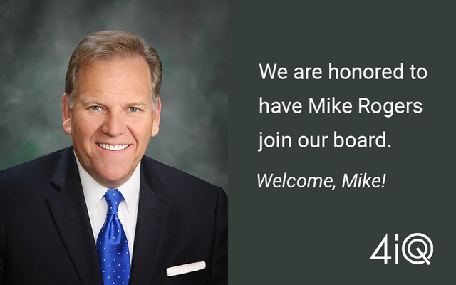 Mike Rogers Joins 4iQ Board of Directors featured image