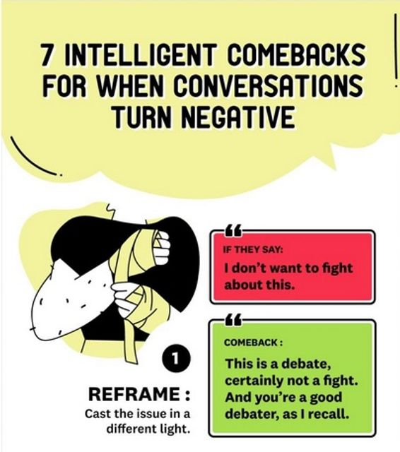 7 intelligent comebacks for when conversations turn negative featured image