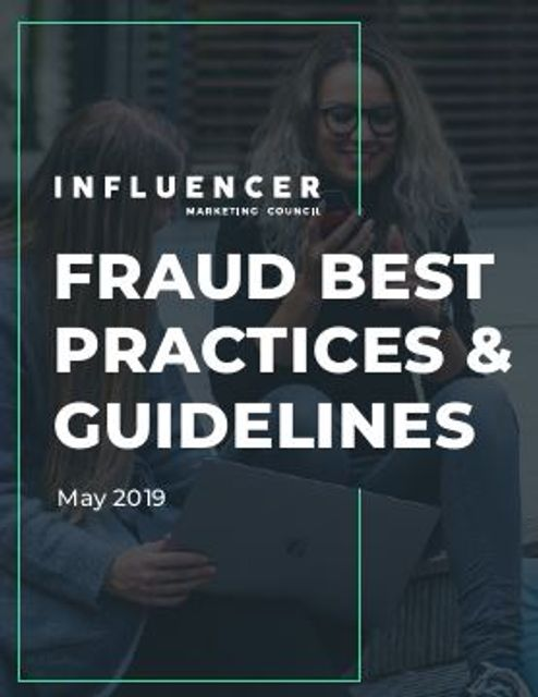 "Influencer Marketing Council Releases ""Fraud Best Practices and Guidelines"" featured image"