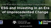 Join Me at the Conference on ESG and Investing in an Era of Unprecedented Change