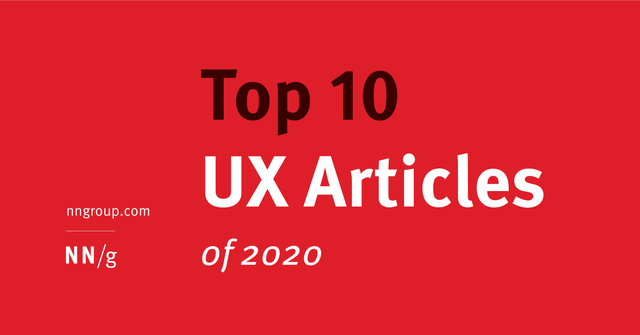 Top 10 UX articles of 2020 featured image