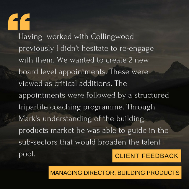 A delighted client in building products! featured image