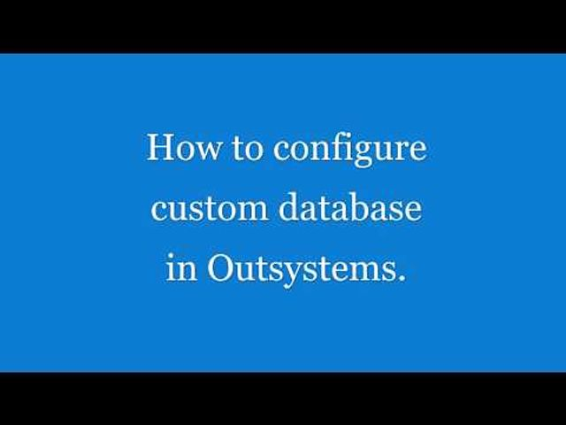 Connect Outsystems to a custom database featured image