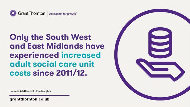 Only the South West and East Midlands have experienced increased adult social care unit costs since 2011/12 featured image