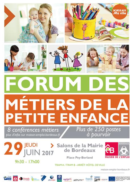 Le forum des métiers de la petite enfance aura lieu le 29 juin 2017 à Bordeaux featured image