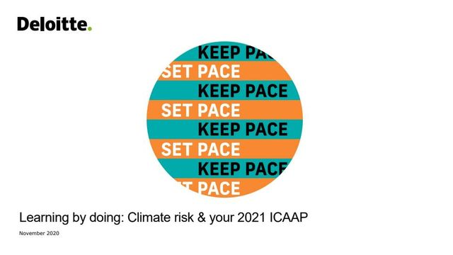 Learning by doing: Climate risk & your 2021 ICAAP featured image