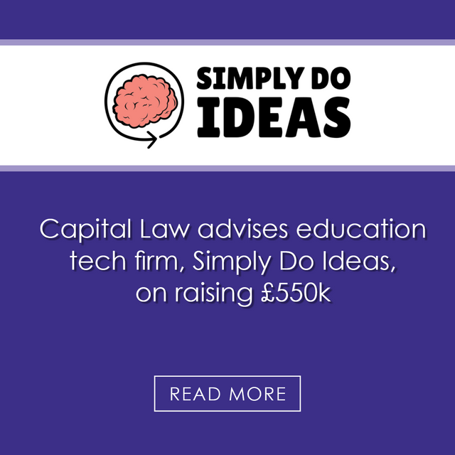 Capital Law advises education tech firm on raising £550k featured image