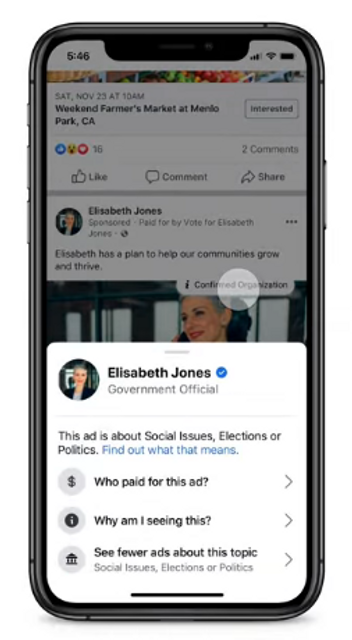 Facebook to Allow Users to Block all Political Advertising featured image
