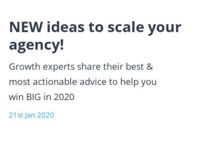 NEW ideas to scale your agency! featured image