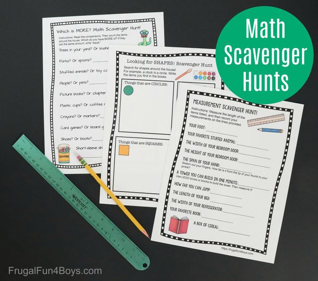 Download these Maths scavenger hunts to complete at home featured image