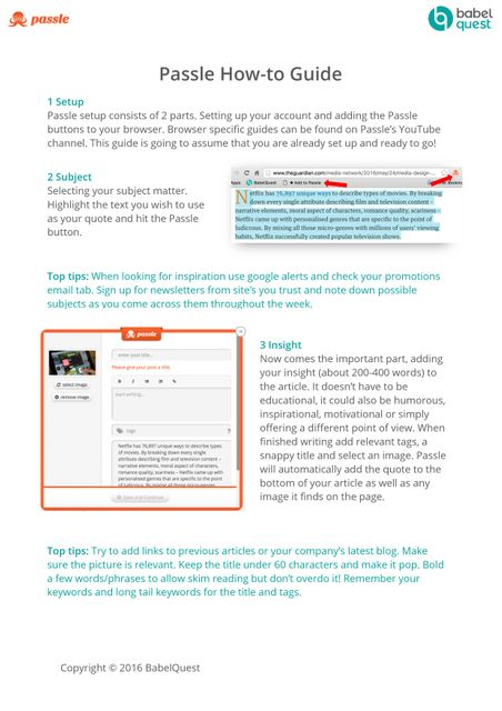 Passle How-to Guide featured image