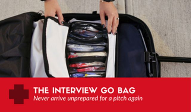 The interview go bag... the emergency supplies you need for your next pitch featured image