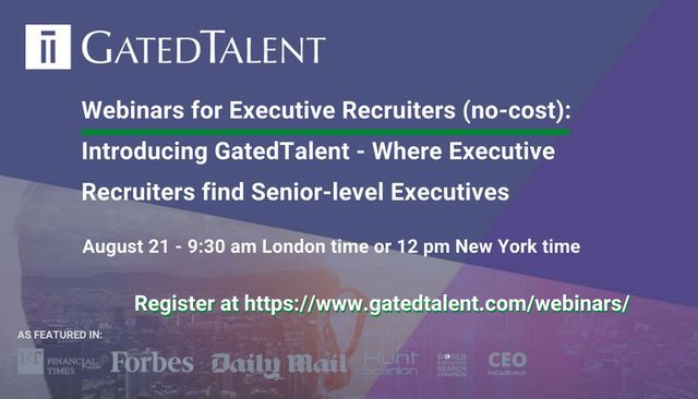 Discover GatedTalent - Where Executive Recruiters find Senior-level Executives featured image