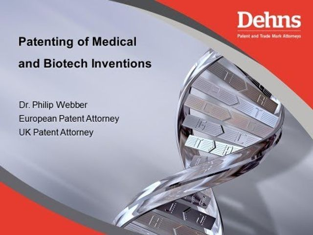 Webinar: Patenting Medical and Biotech Inventions featured image