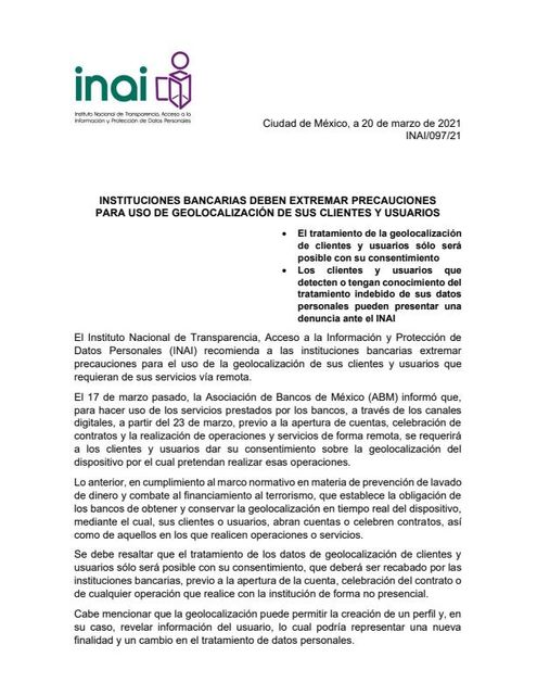 INSTITUCIONES BANCARIAS DEBEN EXTREMAR PRECAUCIONES PARA USO DE GEOLOCALIZACIÓN DE SUS CLIENTES Y USUARIOS featured image