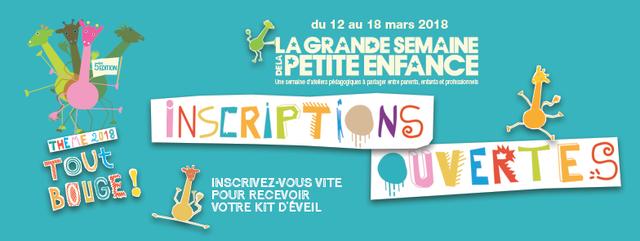 Inscriptions ouvertes pour la Grande Semaine de la Petite Enfance 2018 featured image