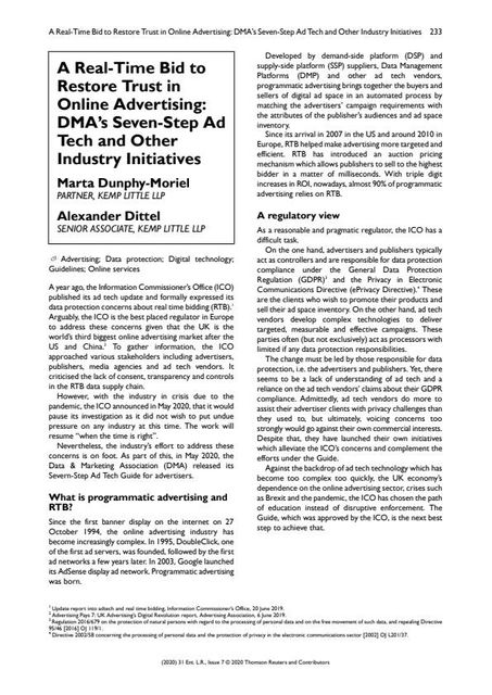 A Real-Time Bid to Restore Trust in Online Advertising: DMA's Seven-Step Ad Tech and Other Industry Initiatives featured image