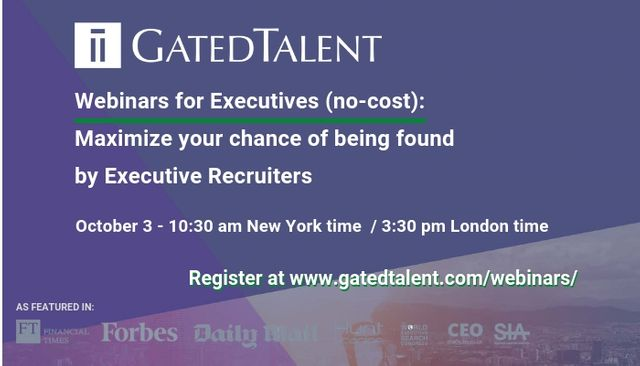 [Webinar For Executives] How To Maximize Your Chance Of Being Found By Executive Recruiters featured image