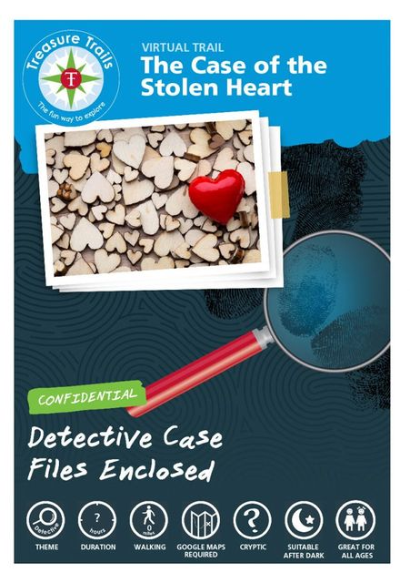 The Case of the Stolen Heart: Solve a virtual Valentine's Detective Trail this weekend❤️ featured image