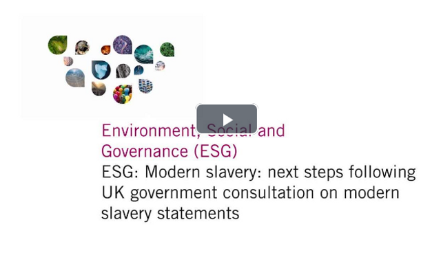 Modern slavery: next steps following UK government consultation on modern slavery statements featured image