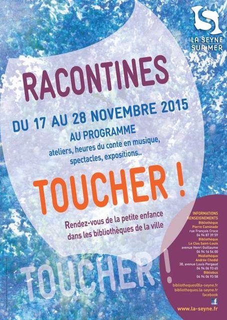 """Racontines, les rendez-vous de la petite enfance """"Toucher"""" featured image"""