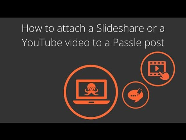 How to add a Slideshare or YouTube video to your Passle post featured image