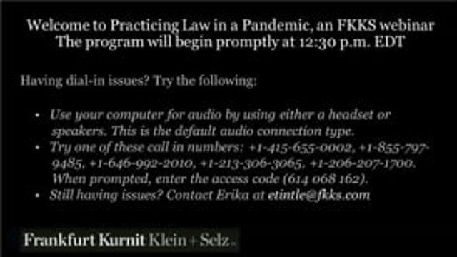 VIDEO:  Practicing Law in a Pandemic:  Remote Lawyering in the Age of COVID-19 (Part 1) featured image