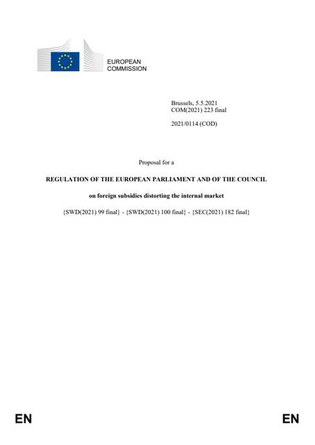 It's tabled: Proposal for the EU Foreign Subsidies Regulation published featured image