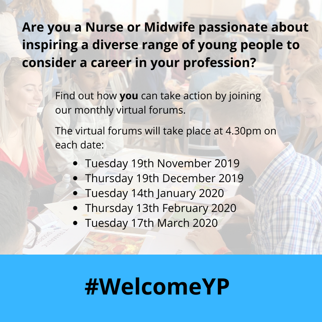 Welcome Young People to Careers in Nursing and Midwifery #WelcomeYP featured image