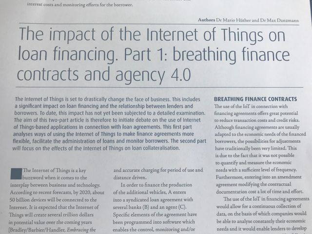 The impact of the Internet of Things on loan financing (JIBLF publications) featured image