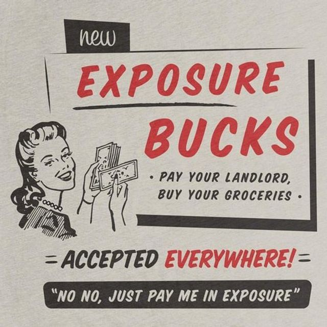 Freelancers: don't die of 'exposure' featured image