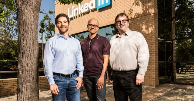LinkedIn + Microsoft featured image