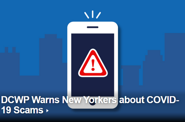 NYC Issues Warning Over COVID-19 Scams featured image
