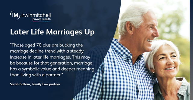 Later Life Marriages Bucking Trend In Latest ONS Stats featured image