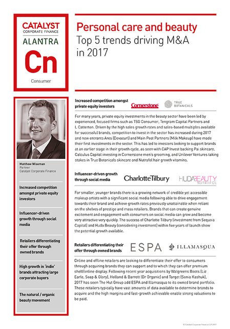 Personal care and beauty: top 5 trends driving M&A in 2017 featured image