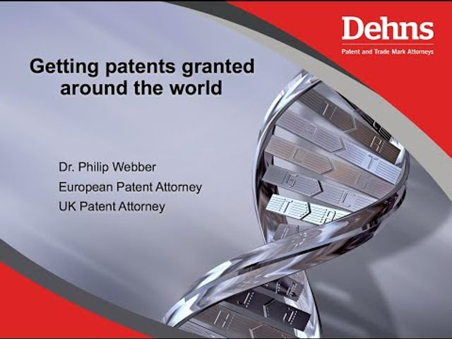 Webinar: An introduction to IP - Getting patents granted around the world featured image