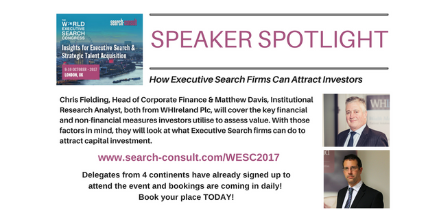 SPEAKER SPOTLIGHT: Want to Know How to Fund, Grow, Value and Exit Your Executive Search Business? featured image