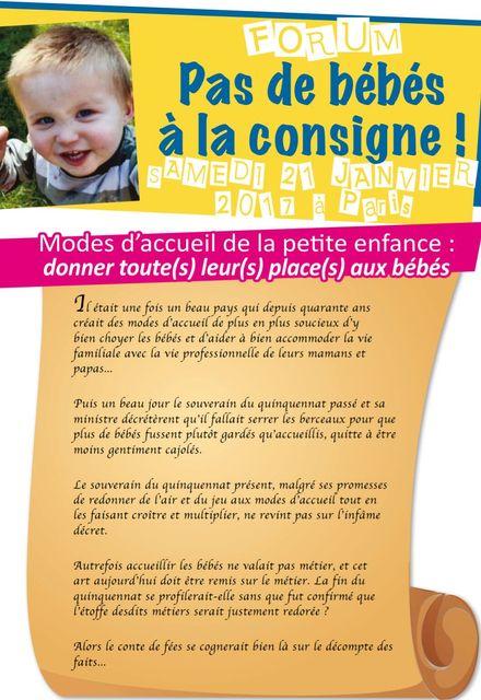 FORUM Pas de bébés à la consigne featured image